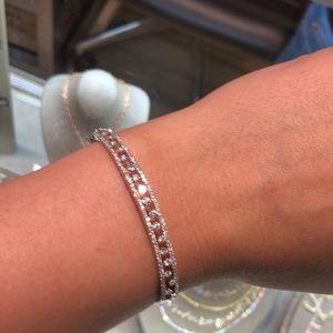 Diamond bracelet white gold 14k